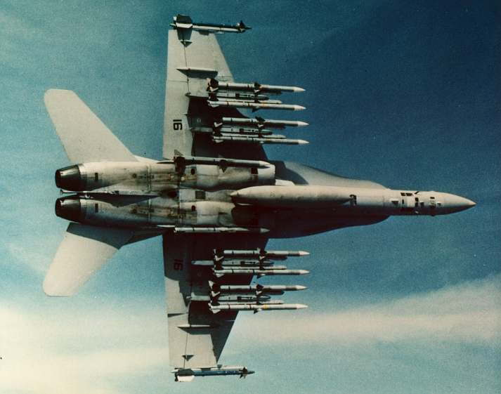 F-18 max missile loadout - Military Aircraft of the Cold War